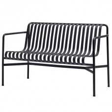 PALISSADE STACKABLE BENCH WITH ARM