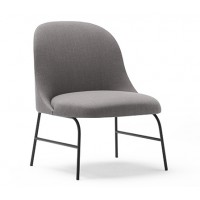 ALEXA LOUNGE CHAIR WITH BLACK STEEL BASE
