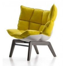 HUSK LOUNGE CHAIR (FIXED WOODEN BASE)