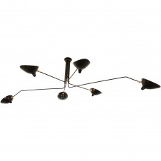 SERGE MOUILLE 6 ARM CEILING LAMP