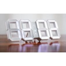 WHITE & WHITE DIGITAL LED CLOCK BY DESIGNER VADIM KIBARDIN (NEW VERSION)